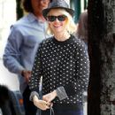 January Jones Out for Lunch at Little Dom's in Los Feliz