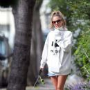 Caroline Flack – Walking her dog in London - 454 x 681