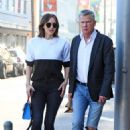 Katharine Mcphee and David Foster – Leaves Il Pastaio Restaurant in Beverly Hills - 454 x 641