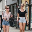 Hailey Clauson walks with a friend in the East Village in New York City, New York on August 5, 2016 - 422 x 600