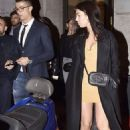 Lovely in lemon! Cristiano Ronaldo's girlfriend  Georgina Rodriguez stuns in thigh-skimming minidress as couple step out for romantic dinner date