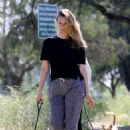 Alicia Silverstone and Angela Sarafyan – Out for a dog walk