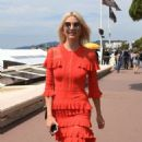 Lena Gercke in Red Dress out in Cannes - 454 x 833