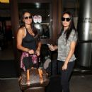 Nikki and Brie Bella at LAX International Airport in Los Angeles - 454 x 621