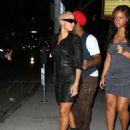 Amber Rose and Drake Leaving Voyeur Nightclub in Philadelphia, Pennsylvania - September 11, 2010 - 454 x 639