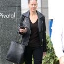 Hilary Swank – Goes to a business meeeting in Beverly Hills