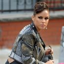 Alicia Keys - Filming Her New Music Video In NYC, 2009-10-30