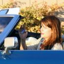 Mischa Barton - Smoking A Joint While Cruising Around Hollywood In A Vintage Convertible Cadillac, 2010-02-15
