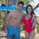 Kelly Brook in Red Swimsuit in the Bahamas – Instagram