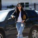 Jessica Gomes – Arriving at a friend's Memorial Day barbecue in LA - 454 x 620