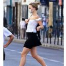 Lily-Rose Depp in Mini Skirt – Out in Paris