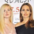Elle Fanning Angelina Jolie Maleficent Press Conference In Tokyo