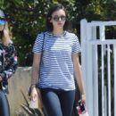 Nina Dobrev in Jeans out in LA - 454 x 766