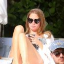 Millie Mackintosh in Swimsuit on the pool in Miami