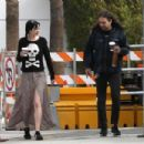 Krysten Ritter in Long Skirt with her boyfriend Adam Granduciel in LA - 454 x 303