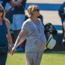 Kate Hudson at her son to soccer practice in Malibu