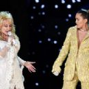 Dolly Parton and Miley Cyrus At The 61st Annual Grammy Awards