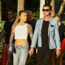 Sophia Thomalla and Gavin Rossdale on the beach in Miami