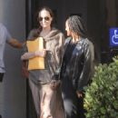 Angelina Jolie takes care of some business at an office building with daughter Zahara  (27 August 2019)