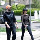 Elizabeth Olsen in Tights with boyfriend Robbie Arnett in Los Angeles - 454 x 564
