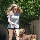 Amanda Seyfried in Shorts Out in West Hollywood