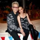 China Chow and Billy Idol attend the Moschino Spring/Summer 19 Menswear and Women's Resort Collection at Los Angeles Equestrian Center on June 8, 2018 in Burbank, California