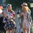 Blake Lively and Leighton Meester paired up in Paris, France on Monday (July 5 2010).
