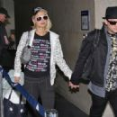 Paris Hilton And Benji Madden Arrive At LAX, 2008-05-07