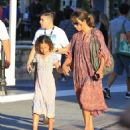 Halle Berry takes her daughter Nahla Aubry to the Grove in Los Angeles, California on June 17, 2016 - 454 x 529