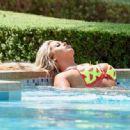 Bianca Gascoigne in Bikini on the pool in Cape Verde - 454 x 333