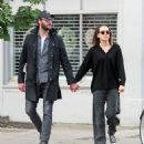 Daisy Ridley and Tom Bateman – Out in Primrose Hill - 454 x 501