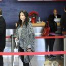 Jenna dewan Tatum and her 2 dogs arrive at LAX Dec. 22, 2102