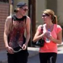 Ashley Greene and Jamie Campbell Bower were all smiles as they left a workout together in in Los Angeles, August 8