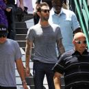 Maroon 5 frontman Adam Levine seen at the Grove shopping centre in Hollywood to appear on Entertainment Tonight 'Extra' show