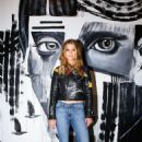 Nina Agdal – Alice + Olivia x Basquiat CFDA Capsule Collection Launch Party in NYC 11/2/ 2016 - 454 x 681