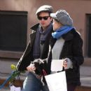 Sebastian Stan and Margarita Levieva stopped for a kiss while shopping in New York City on Sunday - 454 x 533
