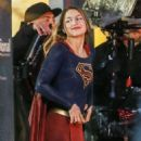 Melissa Benoist – On the Set of 'Supergirl' in Vancouver 3/10/ 2017