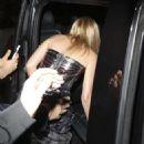 Kylie Minogue – In Long Black Dress Leaving the The London Palladium