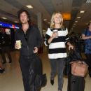 Malin Akerman and fiance Jack Donnelly – Arriving at Aberdeen Airport
