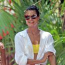 Daniela Braga in Yellow Bikini on holiday in Tulum - 454 x 655