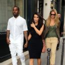 rapper boyfriend Kanye West are joined by supermodel Bar Refaeli while out during Paris Fashion Week on July 4, 2012 in Paris, France