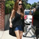 Lindsay Lohan Leaving Samantha Ronson's House In Hollywood, 2009-07-03