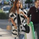 British singer Leona Lewis stops by a Starbucks for a coffee in Beverly Hills, California on December 13, 2014 - 394 x 594