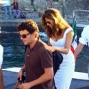 Eva Mendes And George Gargurevich Walking With Domenico Dolce And Stefano Gabbana In Portofino, Italy - 396 x 594