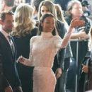 Zoe Saldana attends the premiere of Warner Bros. Pictures'