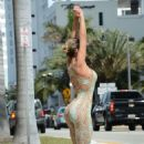 ANDRESSA URACH in Tight Outfit Jogging in Miami Beach