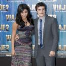 Vanessa Hudgens and Josh Hutcherson premiered their brand new movie, Journey 2: The Mysterious Island, in Mexico City, January 28