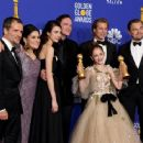 David Heyman, Shannon McIntosh, Margaret Qualley, Quentin Tarantino, Brad Pitt, Julia Butters, and Leonardo DiCaprio At The 77th Golden Globe Awards (2020) - 454 x 363
