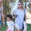 'Grey's Anatomy' actress Ellen Pompeo takes her daughter Stella to the Pacific Design Center in West Hollywood, California on July 23, 2013