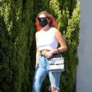 Ashley Benson – Seen with a new hair color while shopping in West Hollywood